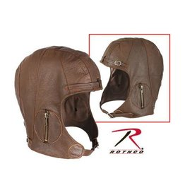 ROTHCO LEATHER PILOT HELMET SIZE XL-2XL
