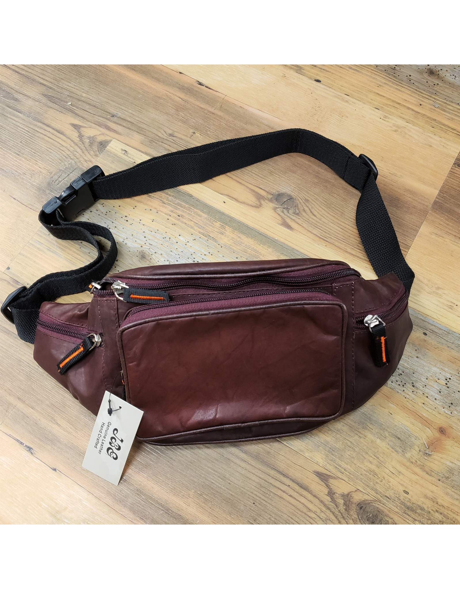 JBE LEATHER LEATHER WAIST POUCH WP-18 BURG