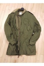 CANADIAN SURPLUS CANADIAN OLIVE COMBAT 3 SEASON JACKET with LINER/ USED