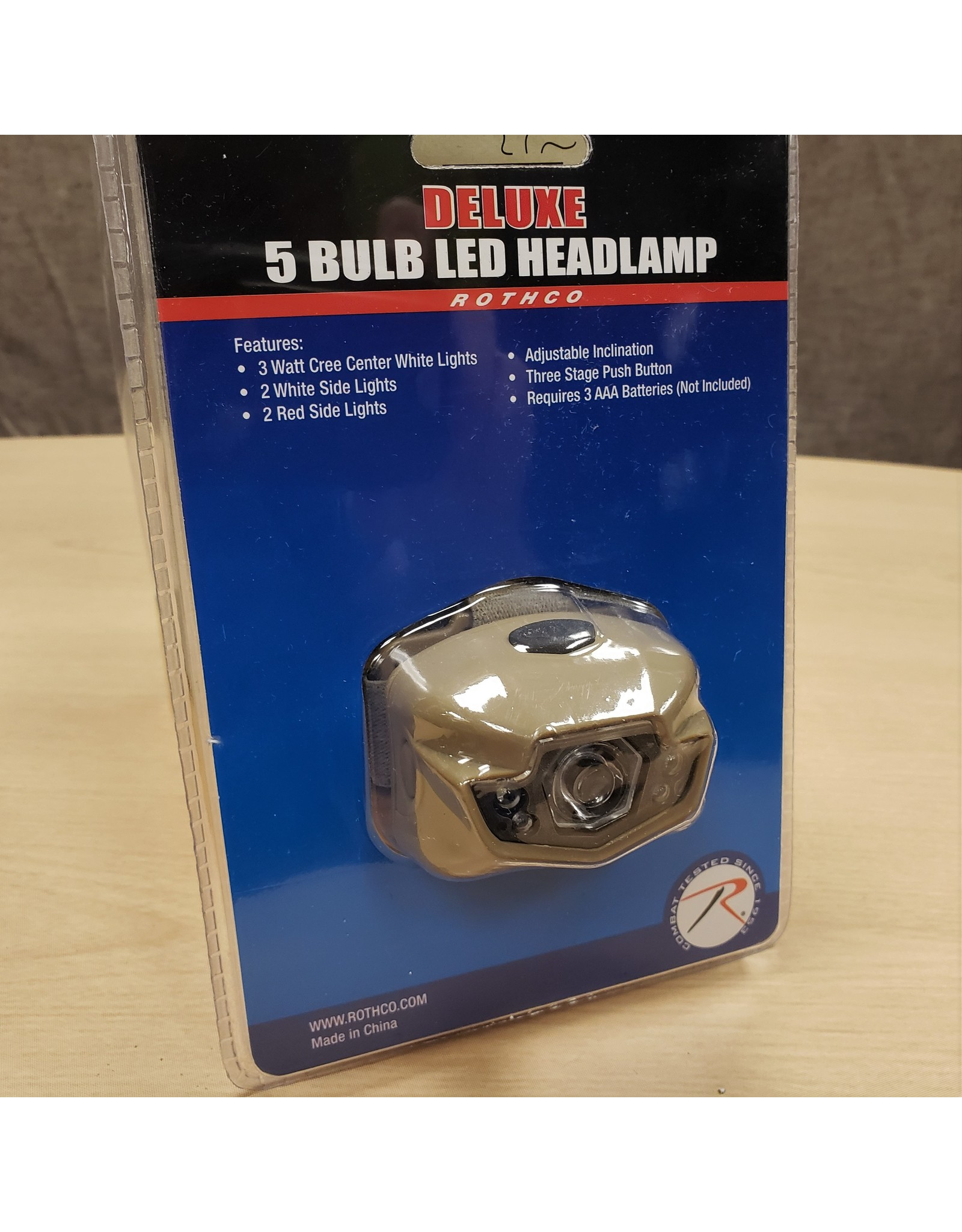 ROTHCO 5 BULB LED HEADLAMP