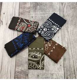ROTHCO DARK COLOURED PAISLEY BANDANAS