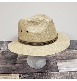 KOORINGAL MEN'S MANASSA DROVER HAT, STONE