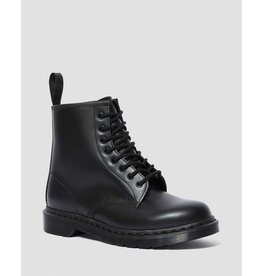 DR. MARTENS DR. MARTENS BLACK MONO SMOOTH LEATHER UP BOOTS