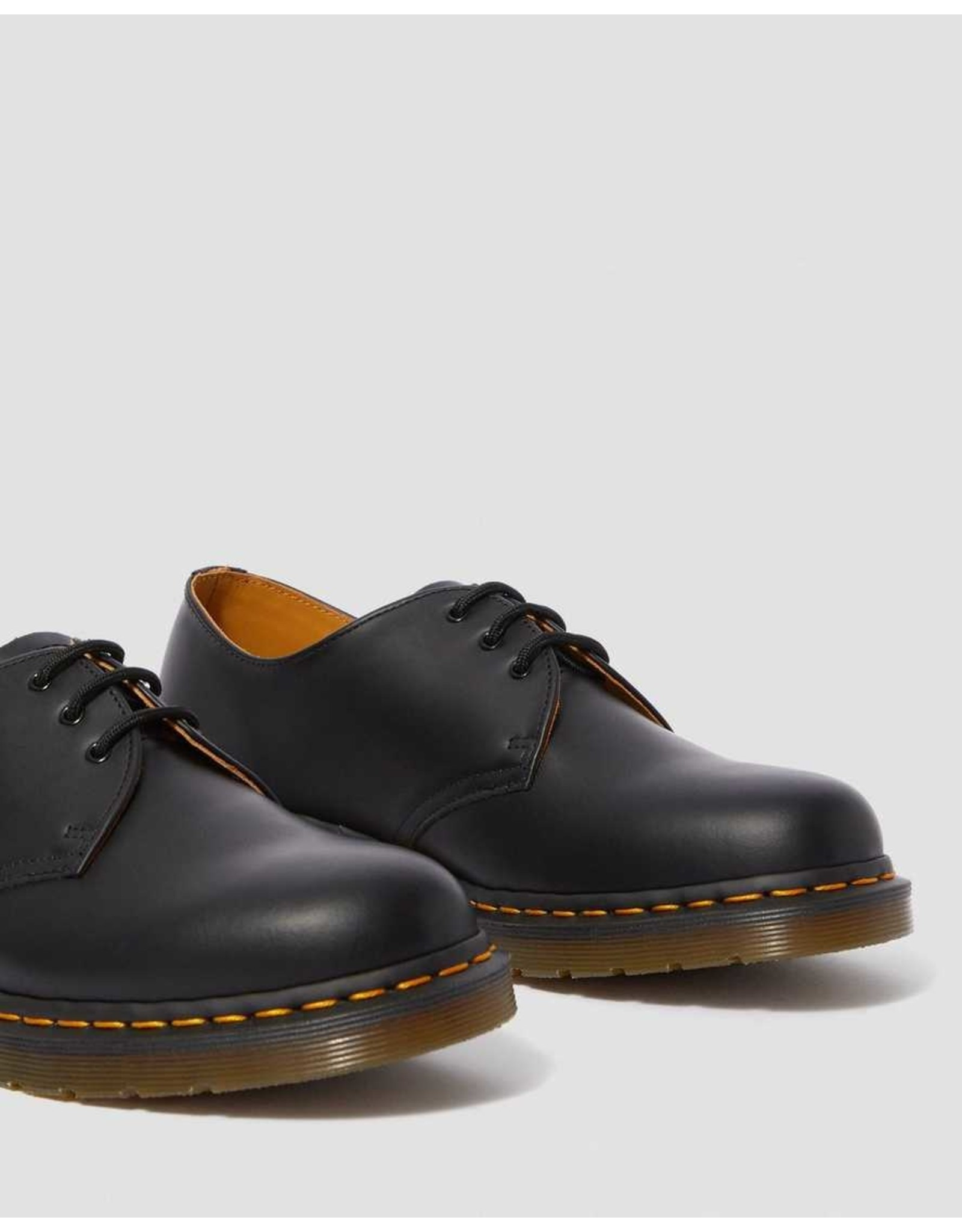 DR. MARTENS DR. MARTENS BLACK SMOOTH LEATHER OXFORD SHOES