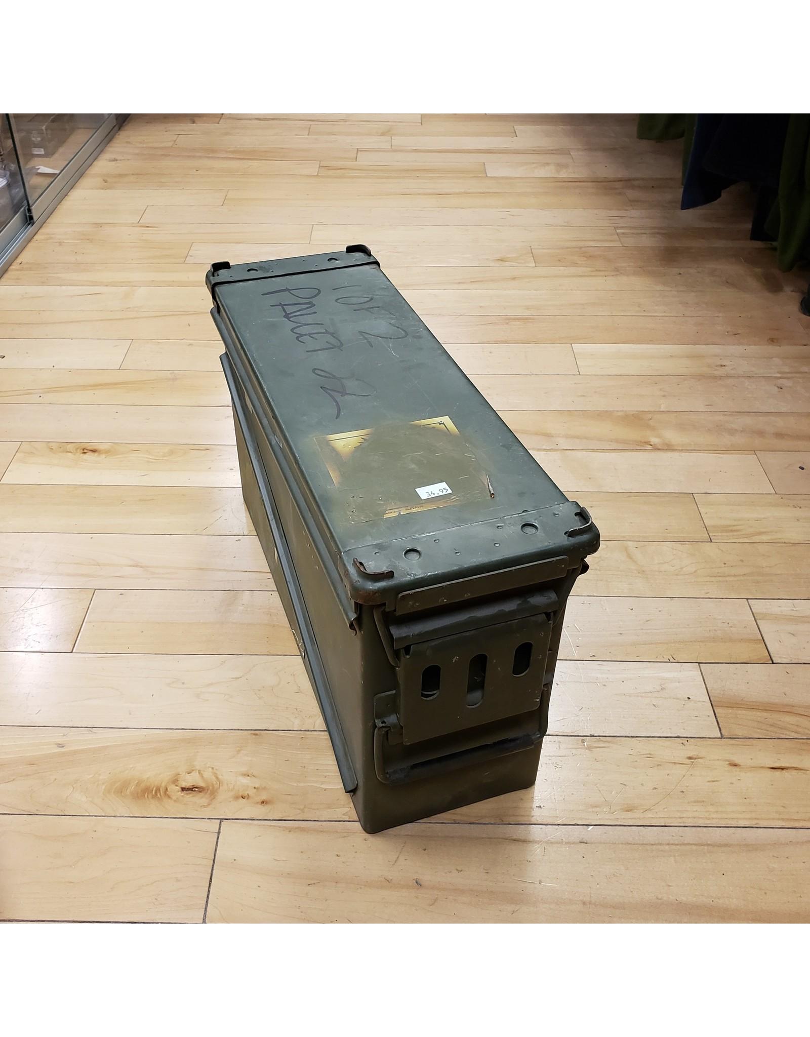 U.S. SURPLUS 40MM STEEL AMMO BOX-USED