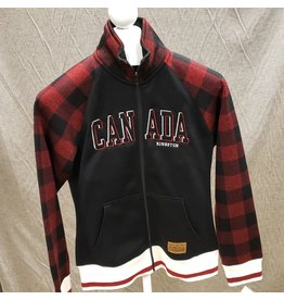 ATTRACTION APPAREL ATTRACTION LADIES TARTAN RED CDN TOP