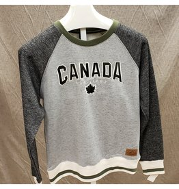 ATTRACTION APPAREL ATTRACTION CANADIAN GREEN 1867 SWEATSHIRT