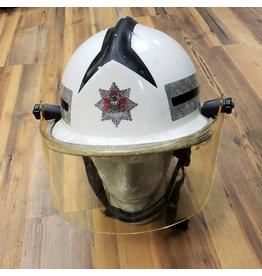 CANADIAN SURPLUS WHITE FIREMAN HELMET
