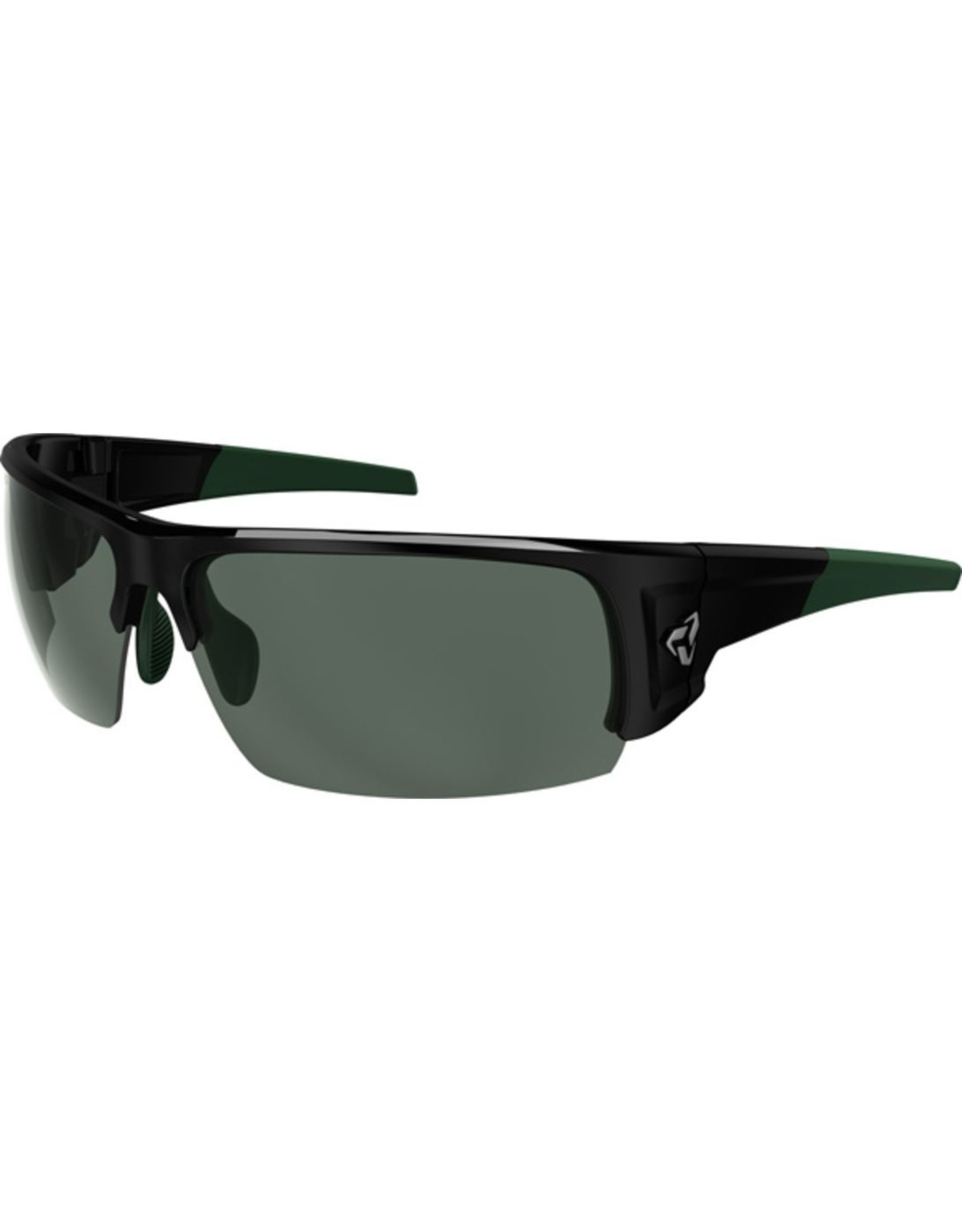 RYDERS CALIBER POLARARIZED BLACK-GREEN / GREEN LENS AR