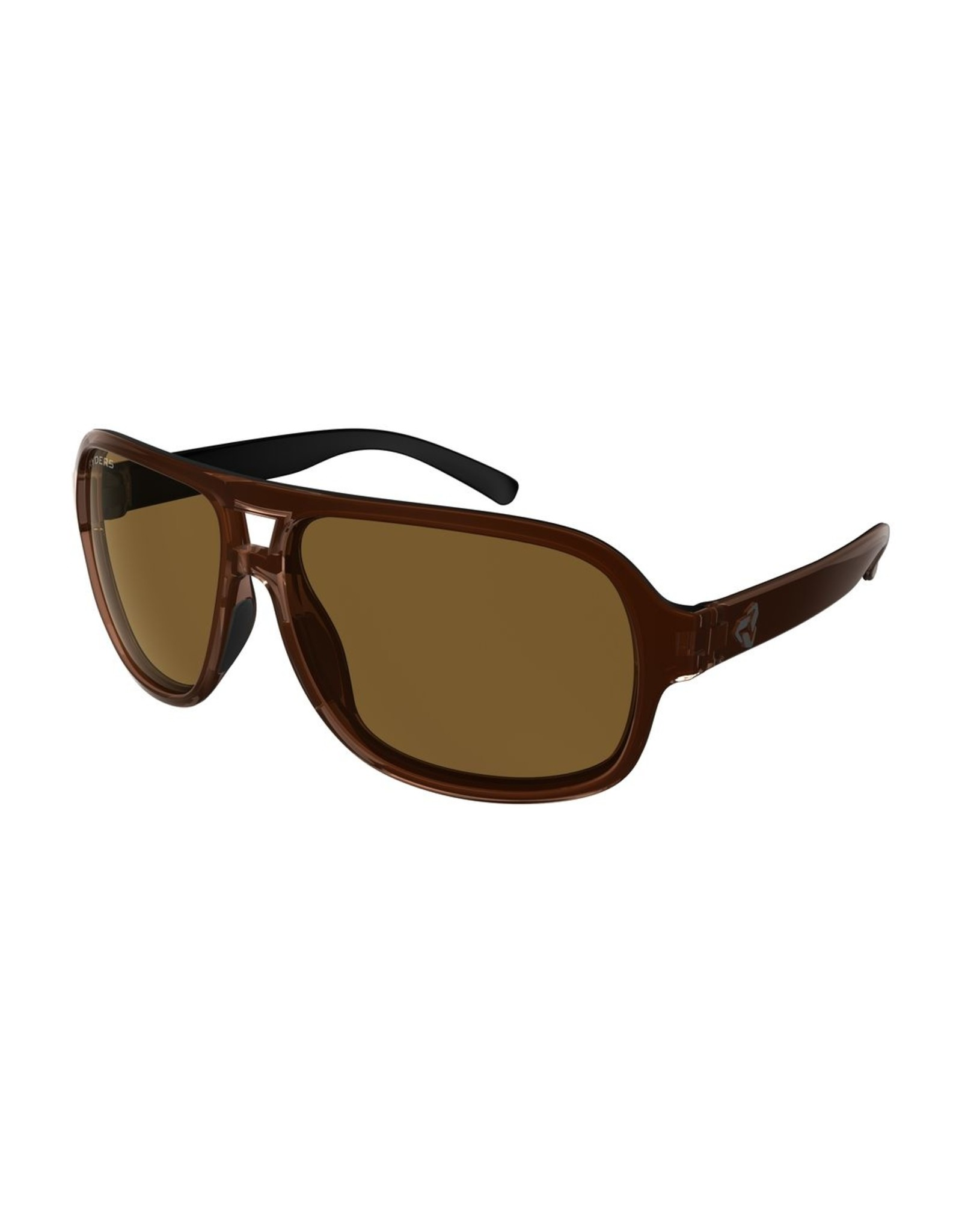 RYDERS PINT POLY BROWN XTAL - BLACK / BROWN LENS