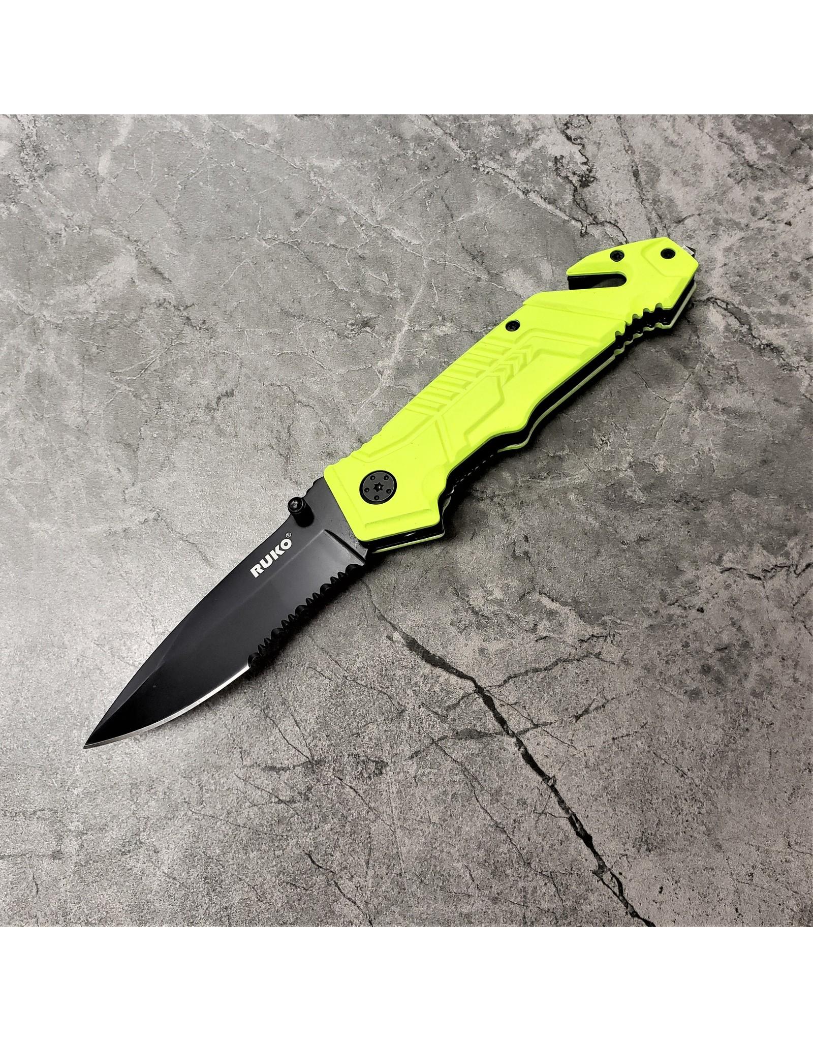 """RUKO KNIVES FOLDING KNIFE RUK0144SHG 3-3/8"""" BLADE HV GRN"""