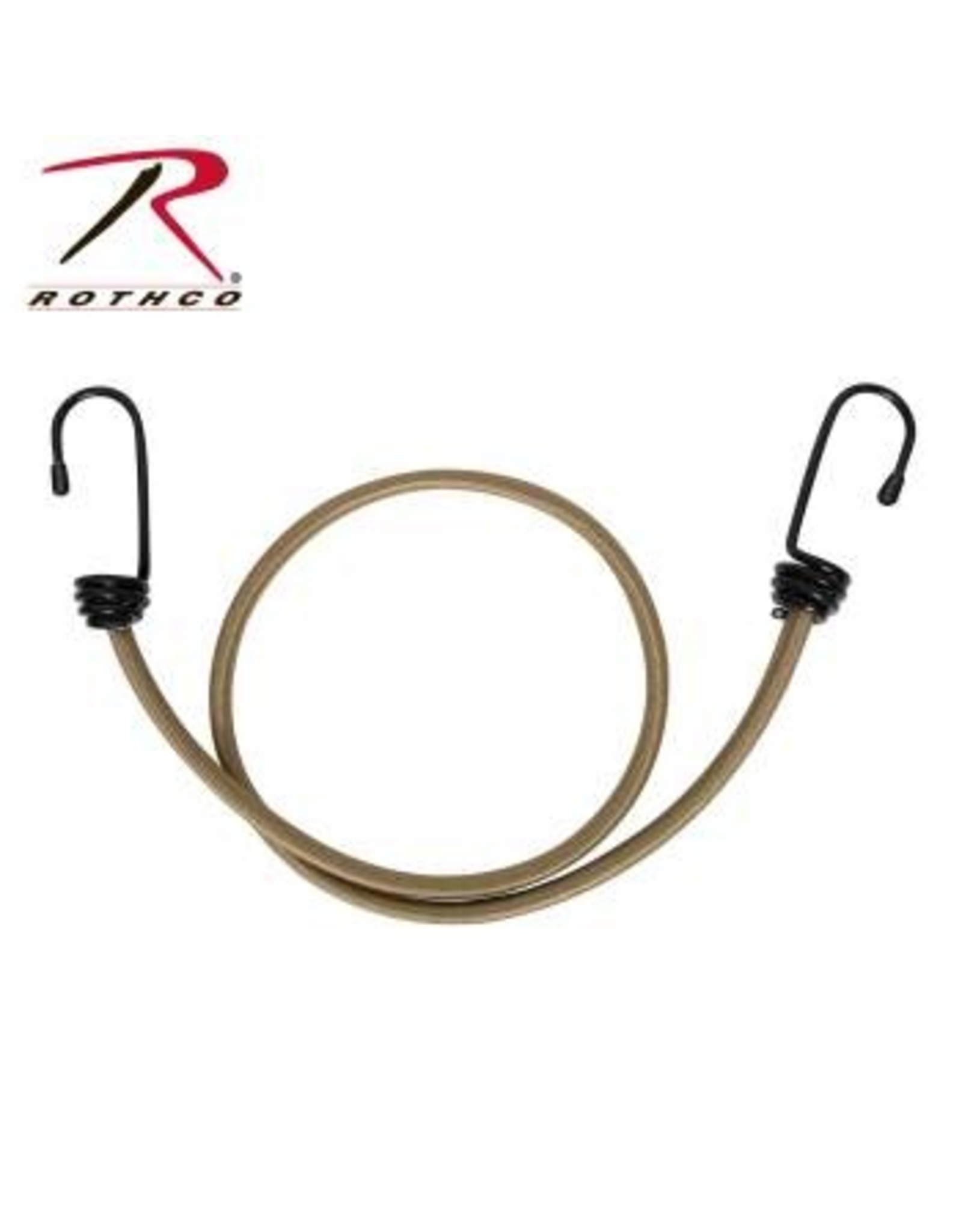 """ROTHCO 4 PACK OF 30"""" BUNGEE CORD -COYOTE"""