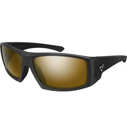 RYDERS TRAPPER POLY BLACK MATTE / BROWN LENS SILVER FM