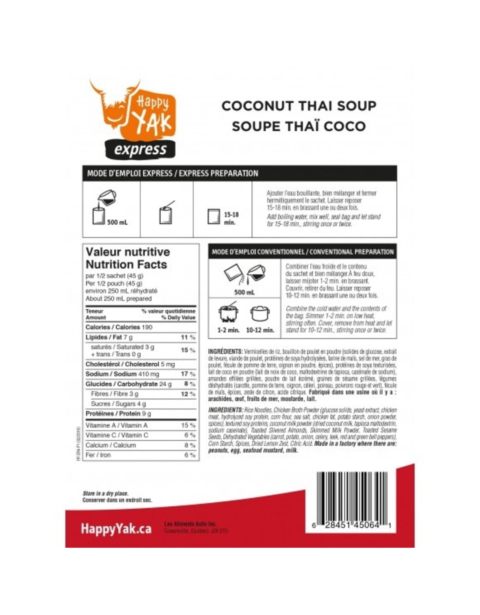 HAPPY YAK COCONUT THAI SOUP