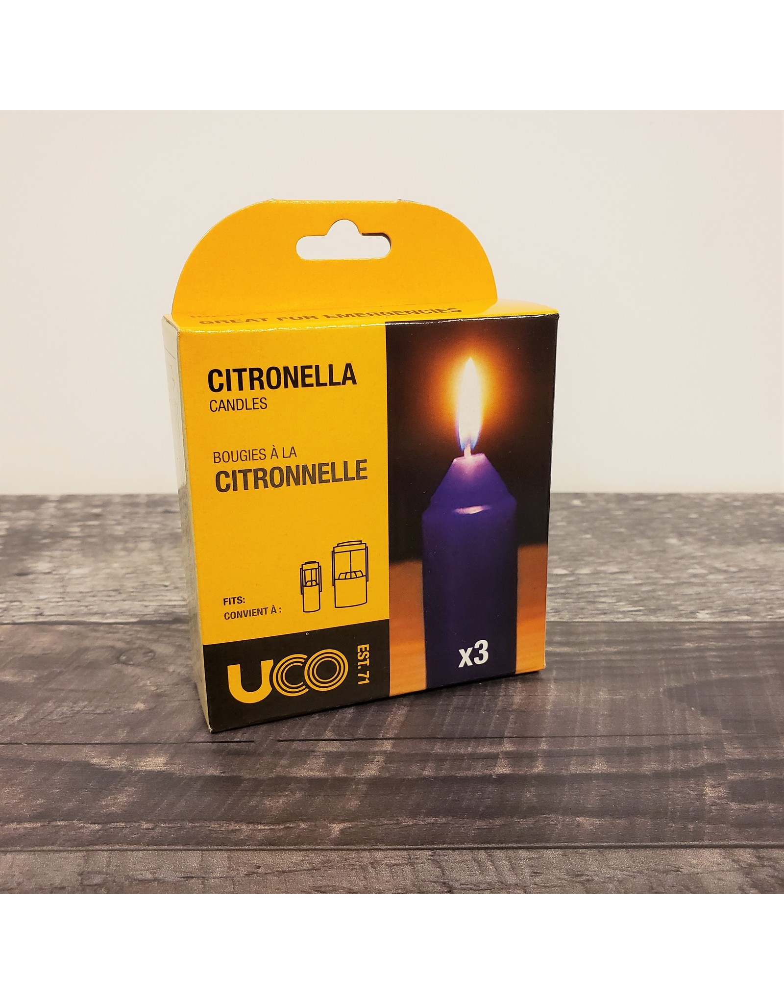 REDPINE OUTDOOR EQUIPMENT CITRONELLA CANDLES UCO (3 PACK)
