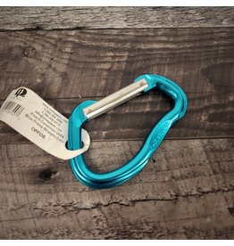 OMEGA PACIFIC Five-o Carabiner Uiaa Blue Frame Straight Gate