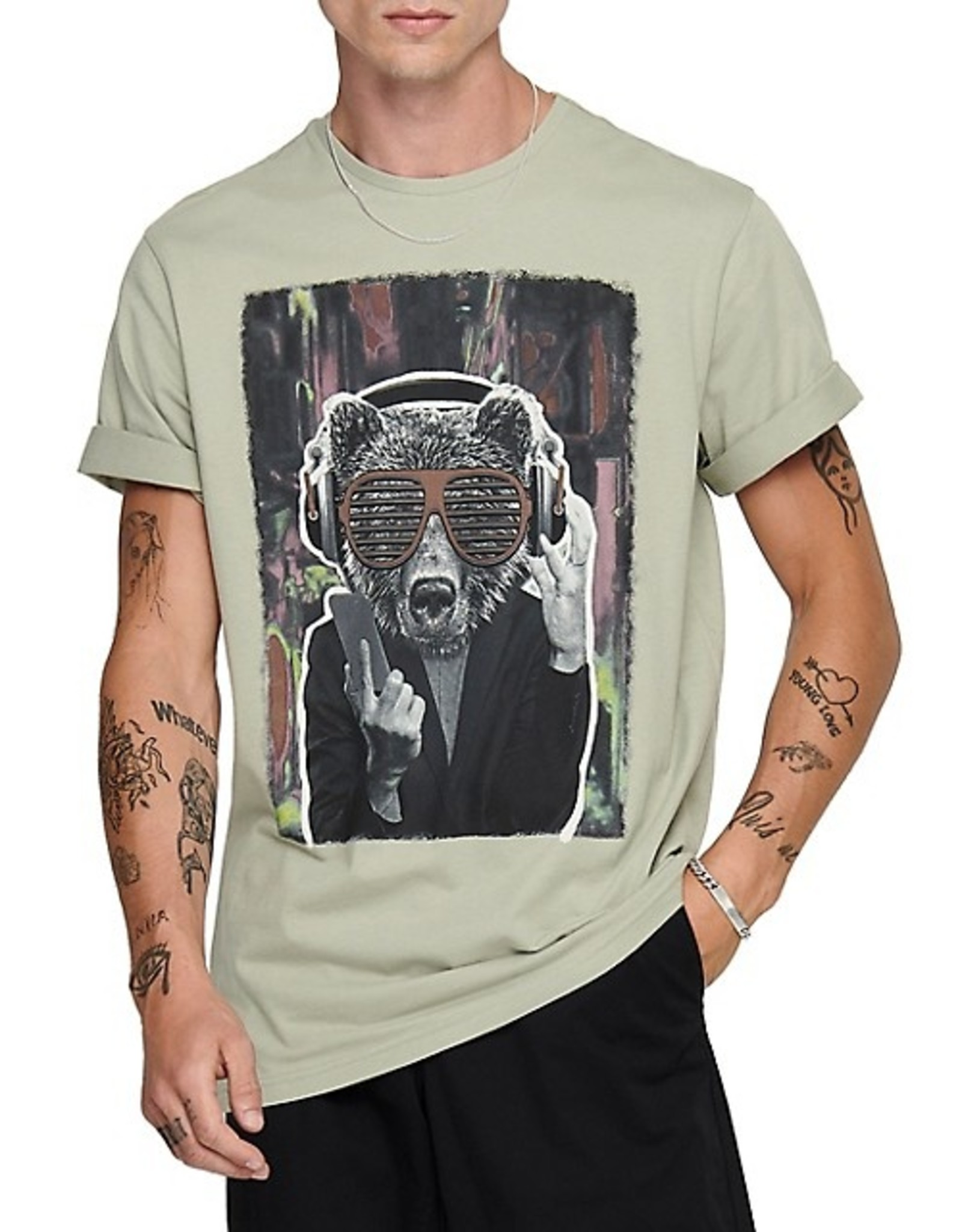 ONLY & SONS SEAGRASS BEAR T-SHIRT