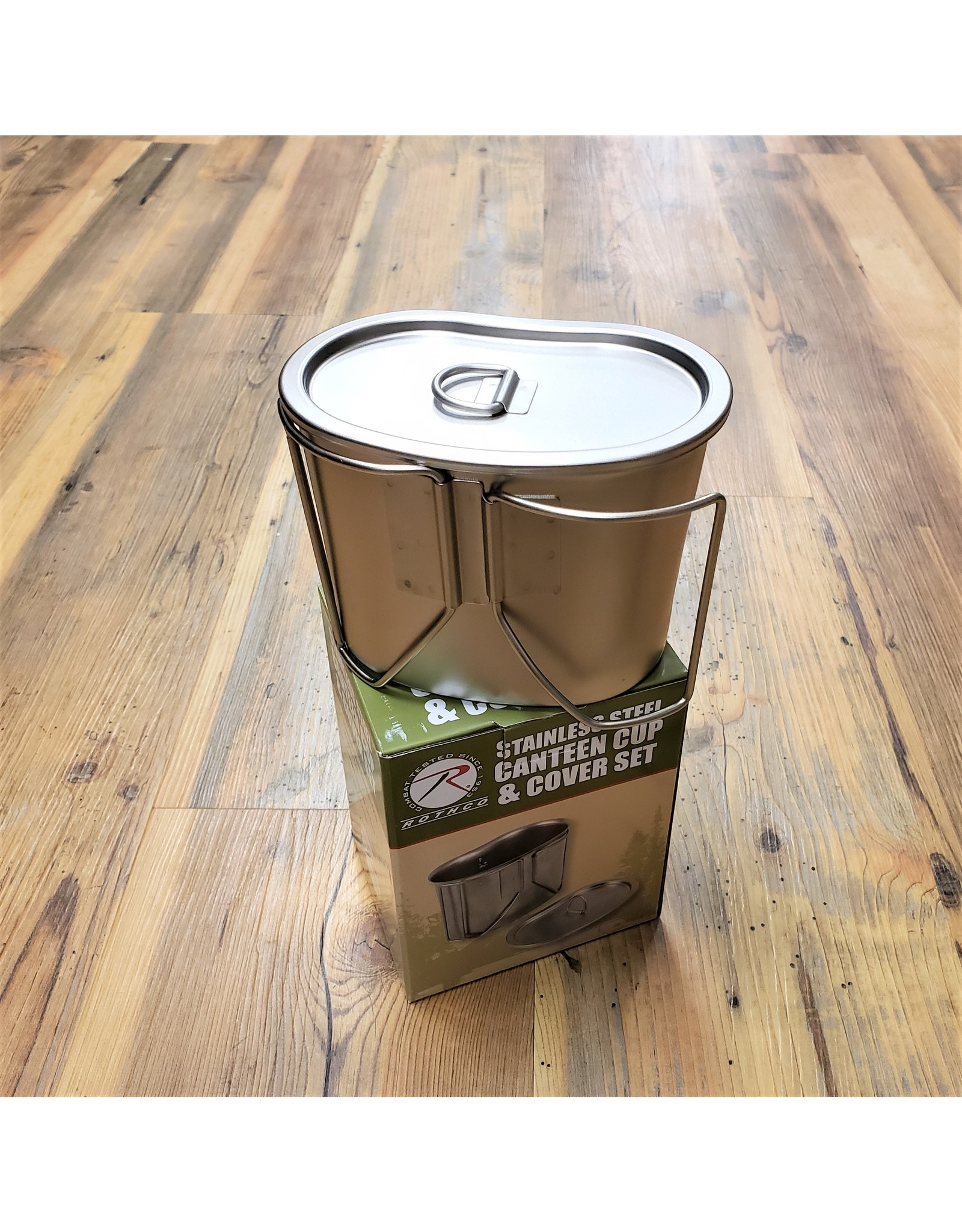 ROTHCO STAINLESS STEEL CANTTEN CUP/COVER SET