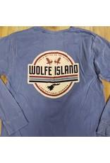 BLUE LONG SLEEVE WOLFE ISLAND SHIRT