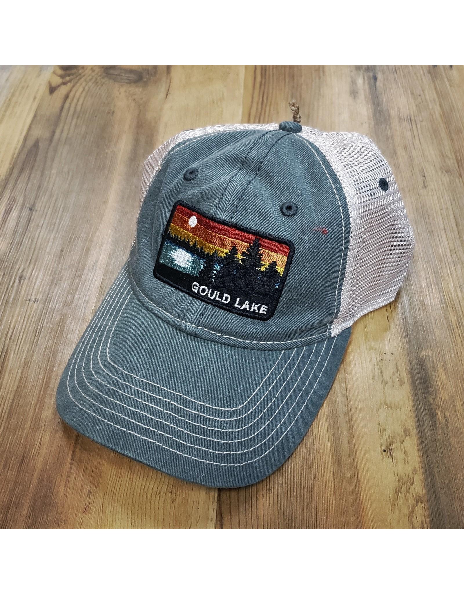 BLUE GOULD LAKE TRUCKER HAT