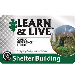 ULTIMATE SURVIVAL GEAR LEARN AND LIVE SHEALTER BUILDING CARD