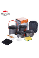 CIRCLE IMPORTS NATURE HIKE 4PC CAMPING COOKWEAR SET