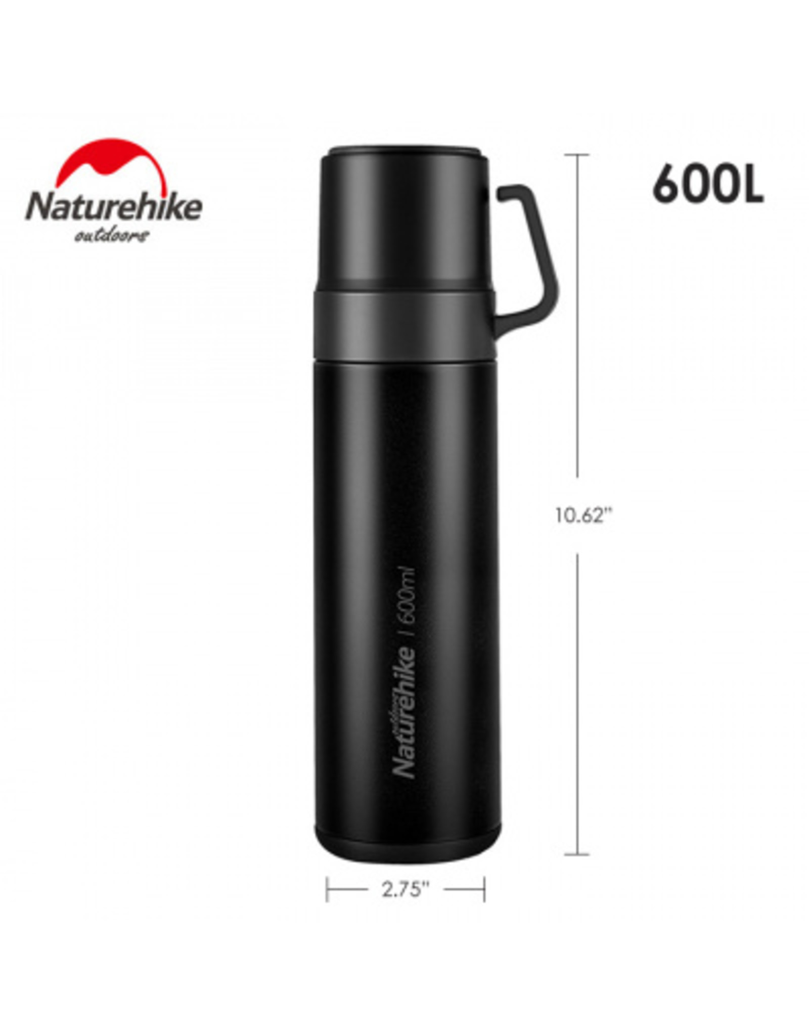 CIRCLE IMPORTS NATURE HIKE 304 STAINLESS THERMOS 600ML