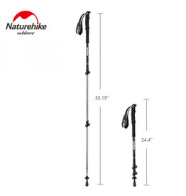 CIRCLE IMPORTS NATURE HIKE 3 SECTION ALUMINUM HIKING POLE