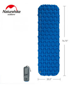 CIRCLE IMPORTS NATURE HIKE  INFLATABLE SLEEP PAD BLUE