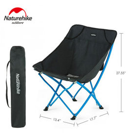 CIRCLE IMPORTS NATURE HIKE PORTABLE FOLDING CHAIR-BLACK/BLUE