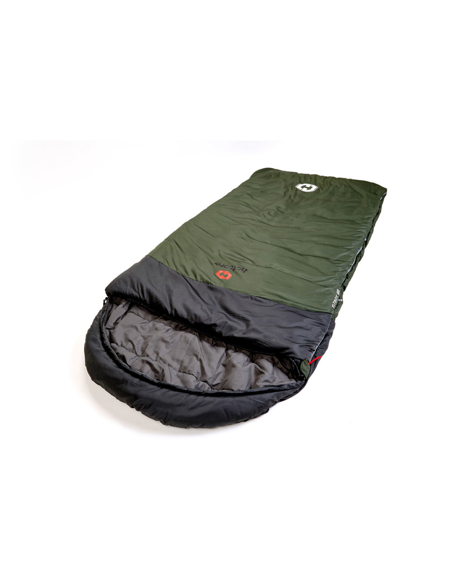 HOTCORE HOTCORE- FATBOY 400- OVERSIZED RECTANGULAR SLEEPING BAG, GREEN- 30C/-22F