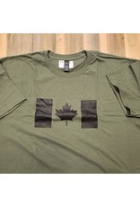 WORLD FAMOUS SALES CANADIAN FLAG T-SHIRT BLACK/OD