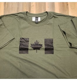 WORLD FAMOUS SALES CANADIAN FLAG T-SHIRT BLACK/OD