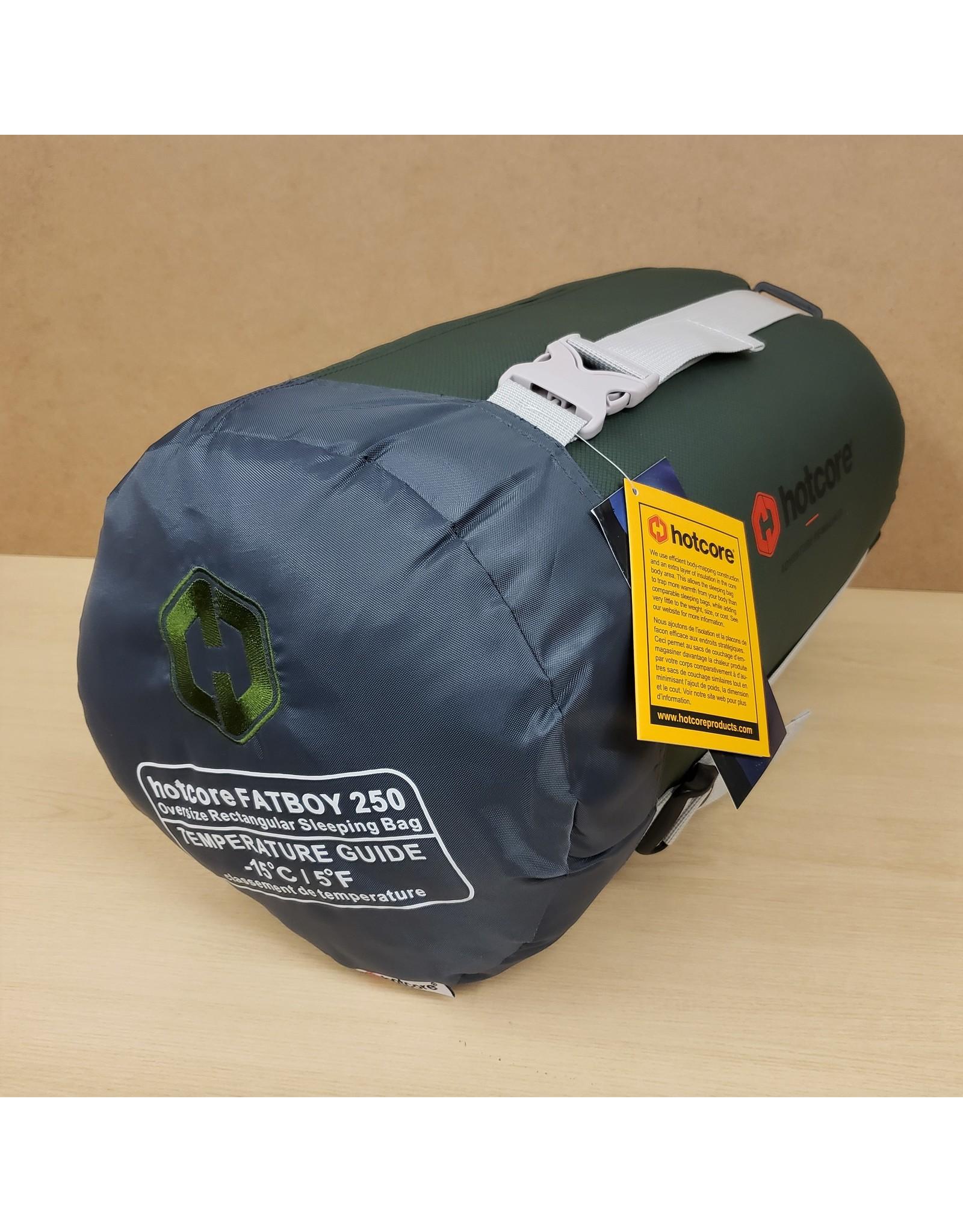 HOTCORE HOTCORE FATBOY 250 SLEEP BAG Comfort: -10°C (14°F) Limit: -15°C (5°F)