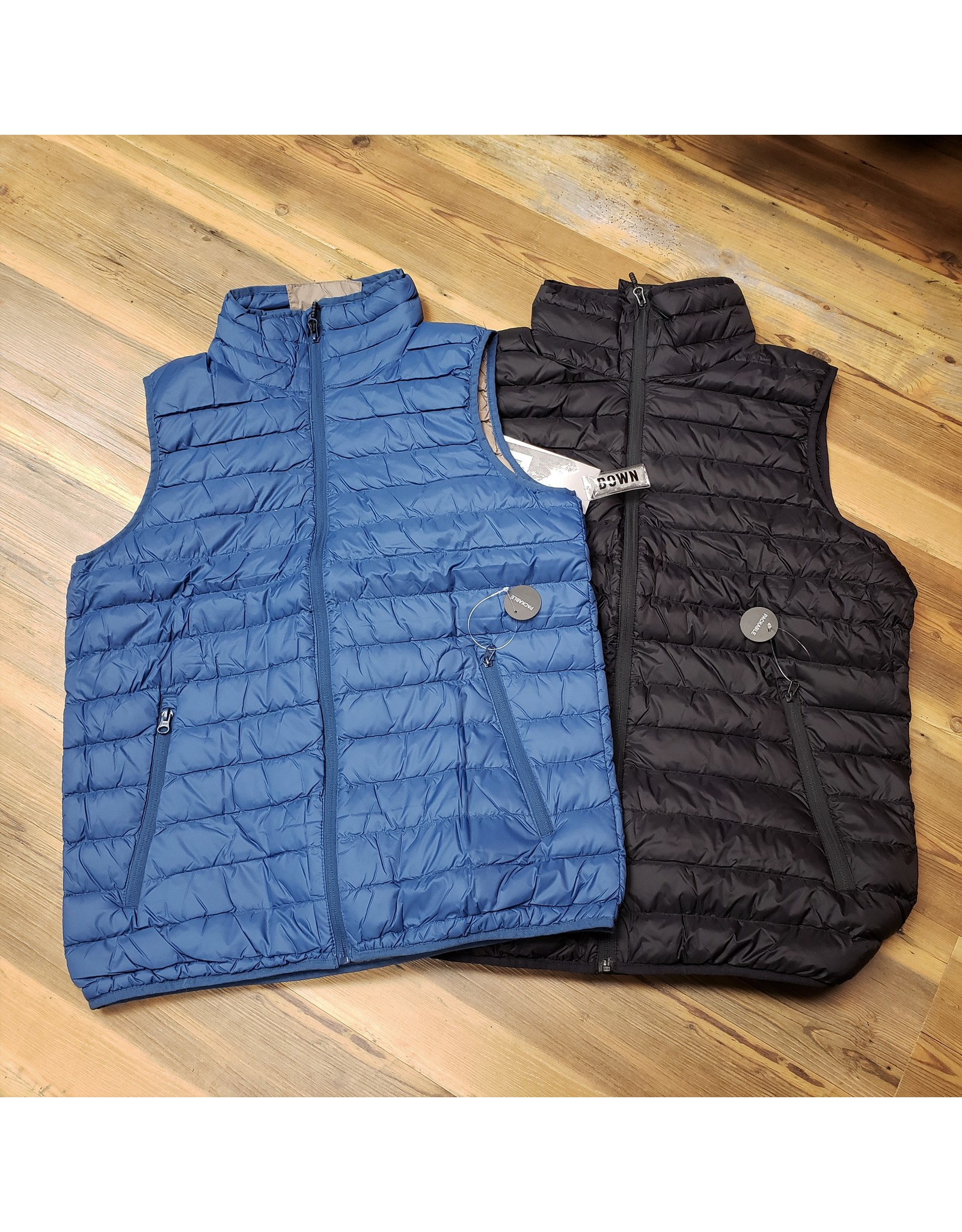 WORLD FAMOUS SPORTS MENS 90/10 PACKABLE DOWN VEST