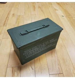 CANADIAN SURPLUS NEW 50 CAL AMMO BOX
