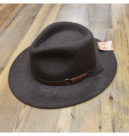BRONER WOOL SAFARI HAT WITH LEATHER TRIM