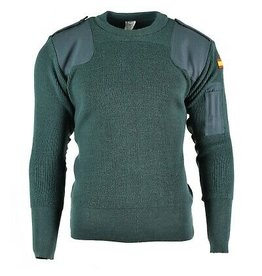 EUROPEAN SURPLUS SPANISH GREEN COMMANDO SWEATER