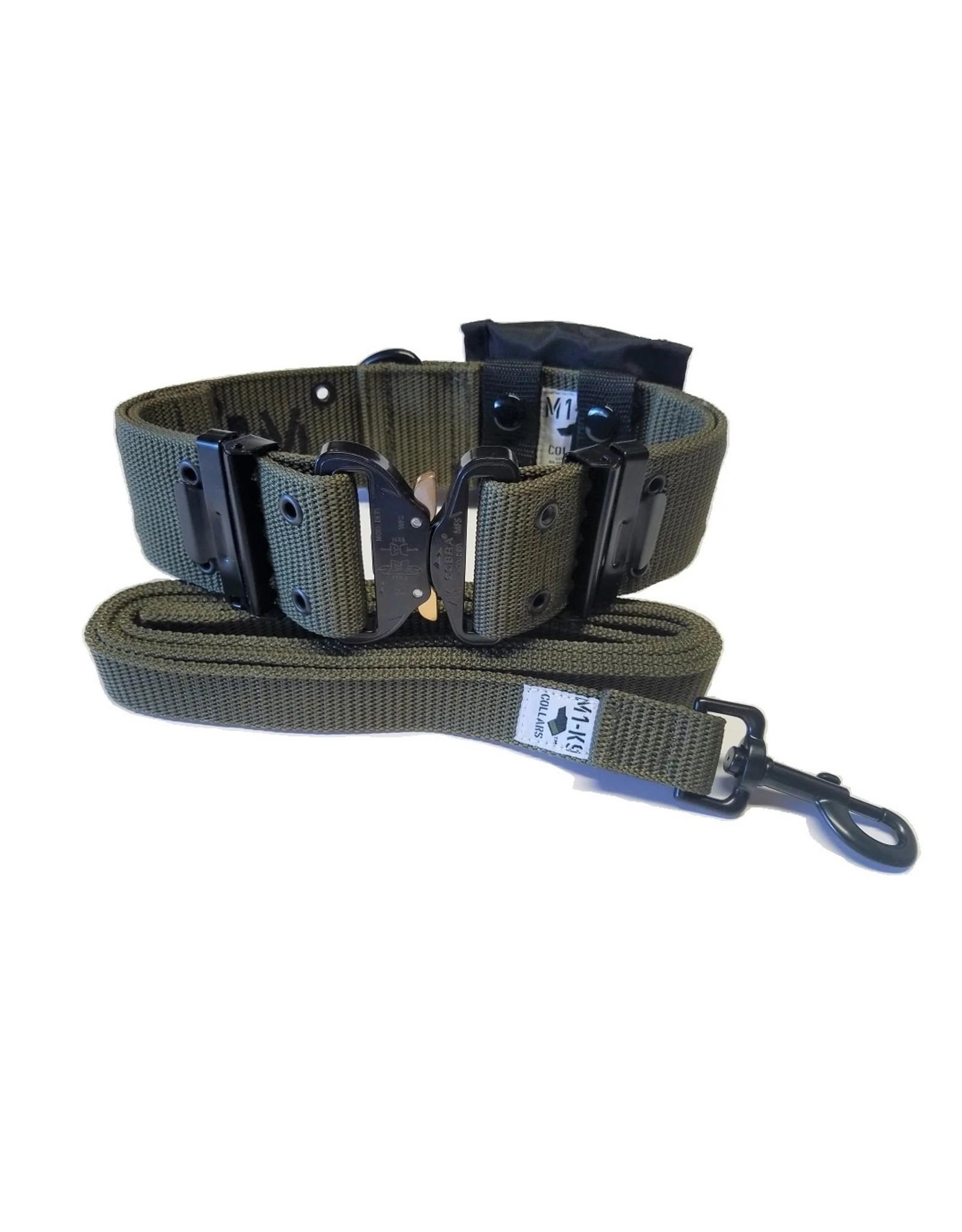 M1-K9 COLLARS M1-K9 LEASH/COLLAR W/HEAVY DUTY BUCKLE