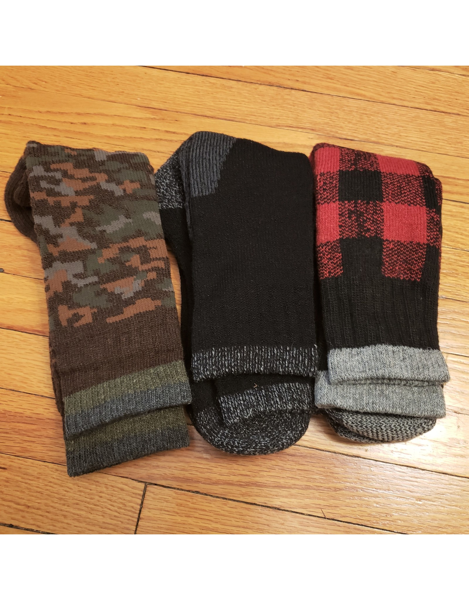MAJOR SURPLUS DIXIE WOOL BLEND 3PK SOCK