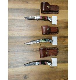 BAJWA ENTERPRISES DAMASCUS FOLDING KNIFE #7, 8, & 9