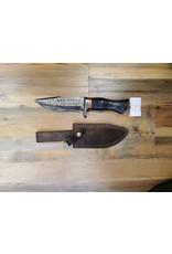BAJWA ENTERPRISES DAMASCUS FIXED BLADE KNIFE #18
