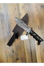BAJWA ENTERPRISES DAMASCUS SERRATED BACK FIXED BLADE KNIFE