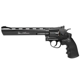 "ASG DAN WESSON 8"" BK  REVOLVER  4.5MM/ .177 PELLETS"
