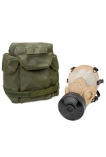 SWISS LINK ARF-A TAN GAS MASK W/OLIVE BAG & FILTER