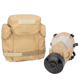 SWISS LINK ARF-A TAN GAS MASK W/TAN BAG & FILTER