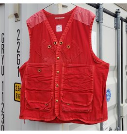 CANADIAN SURPLUS RED EMR CANVAS WORK VEST