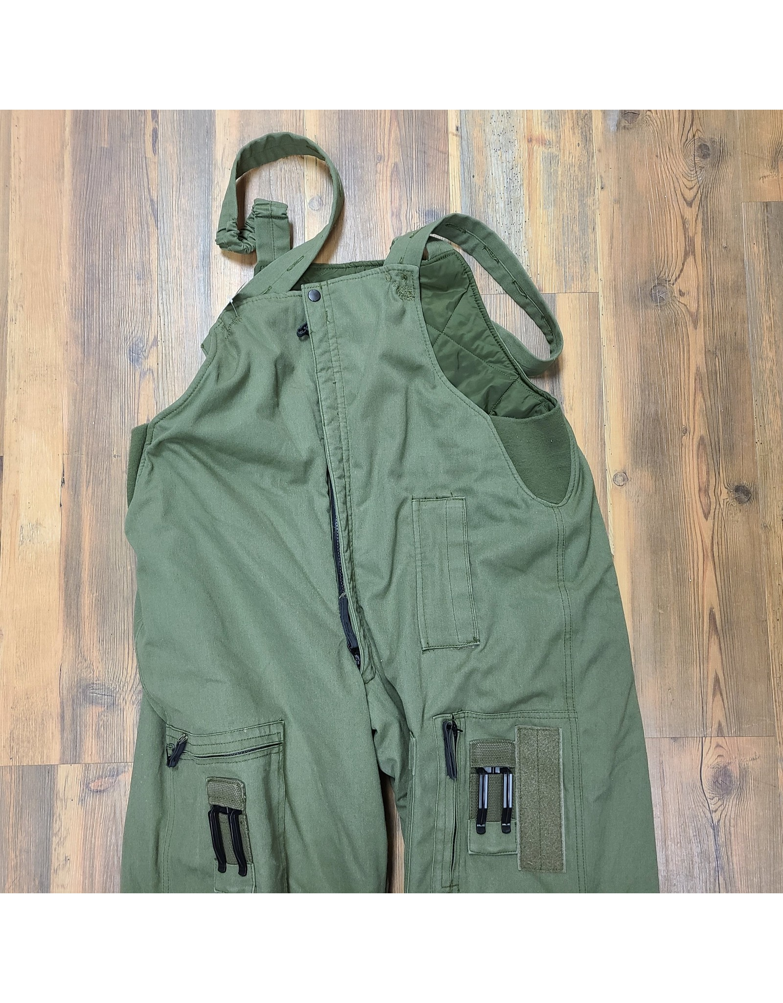 CANADIAN SURPLUS INSULATED AIRFORCE BIB PANT OLIVE 7340 TALL LARGE