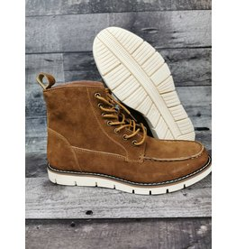 BLEND 20704316 BROWNLEATHER BOOTS
