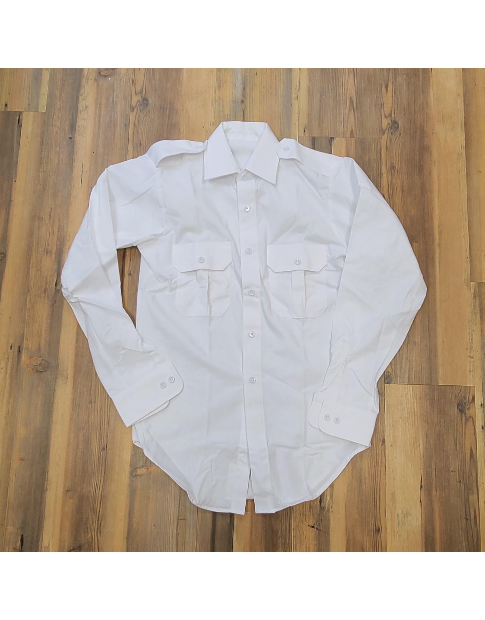 CANADIAN SURPLUS MEN'S WHITE DRESS LONG SLEEVE-USED